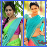 Actress wearing Half-Saree