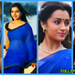 Tollywood Actress wearing blue dress